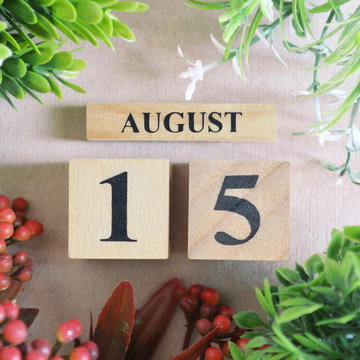 August 15, Icon design in natural concept.