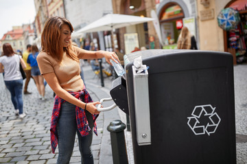 Woman Recycling Photos Royalty Free Images Graphics Vectors Videos Adobe Stock