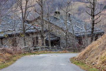 casa, tetti, pietra