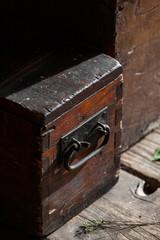 cassetta di legno, scatola, legno, maniglia