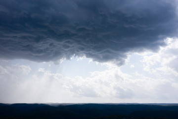 A severe thunderstorm and rain in the greater Sydney basin