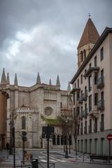 iglesia gótica de la Antigua en Valladolid España en Europa