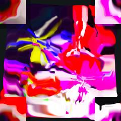 Papiers peints Graffiti Abstract colored pattern. Digital art design