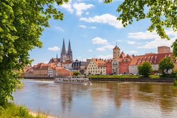 Regensburg im Sommer Fotomurales