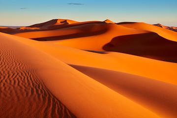 Zandduinen in de Sahara-woestijn, Merzouga, Marokko