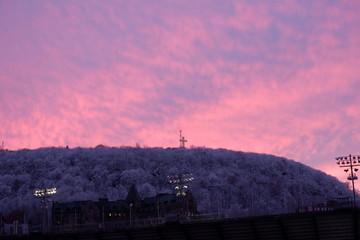 Photo sur Plexiglas Rose banbon Montreal sunset