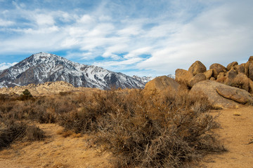Sierra Nevada mountains rock formations in the Buttermilks