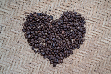 Coffee beans from hill tribe farms in northern Thailand