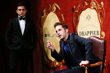 Actor Ben Platt defends that a hot dog is a sandwich as he is honored as Hasty Pudding Theatricals Man of the Year at Harvard University in Cambridge, Massachusetts