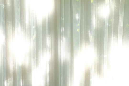white see through sheer window curtain