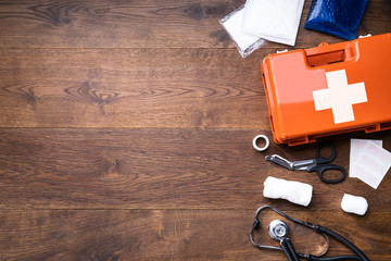 First Aid Kit With Medical Equipment Fotomurales