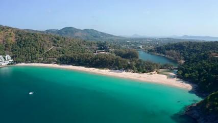 Wall Mural - Aerial view of Nai Harn beach in Phuket, Thailand