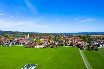 Large parabolic antennas of the earth station Raisting, Bavaria, Germany,