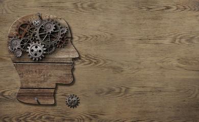 Psychology or brain work concept 3d illustration