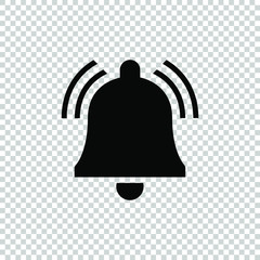 bell rings icon vector flat on transparent background