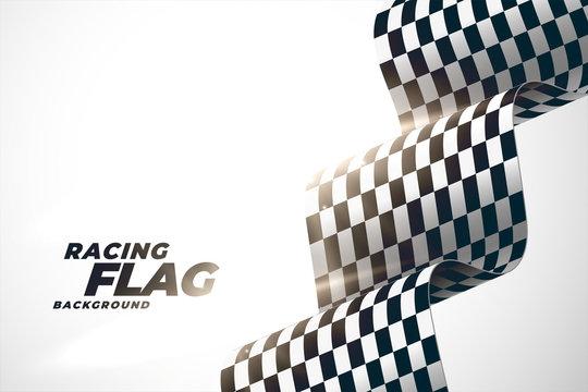 3d racing wavy flag background design