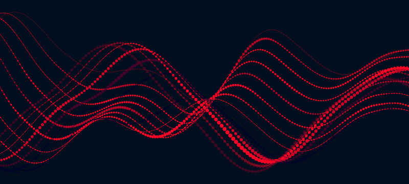 Abstract digital wave of particles. Music abstract background. Equalizer for music. Vector illustration