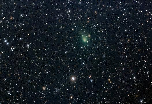 Comet PanSTARRS (C/2017 T2) passing through the constellation or Perseus captured 6/02/20 Cornwall, UK
