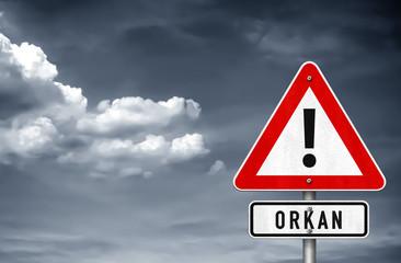 Orkan - Warnung vor Unwetter