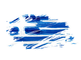 Abstract grunge flag of Greece Fotomurales
