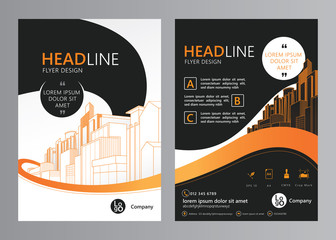 Brochure template design. Concept of architecture and real estate design. Vector illustration