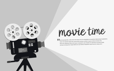 Movie time concept.