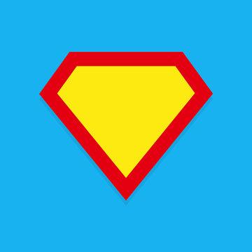 Superhero icon. Superman logo frame.