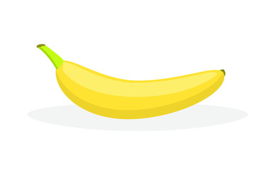 Vector flat image of a banana on a white background