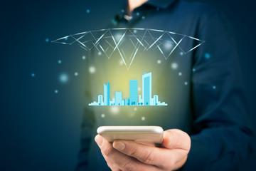 Smart intelligent city concept