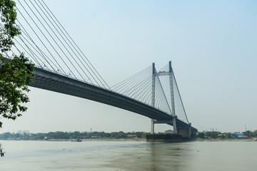 View of Vidyasagar bridge. Kolkata. India
