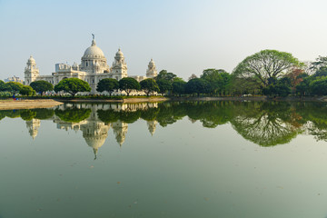 Victoria Memorial Hall and garden in Kolkata Papier Peint