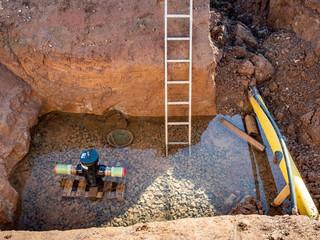 Baustelle Wasserleitungen werden saniert