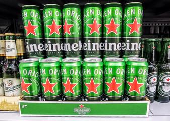 Heineken alcoholic beer ready for sale