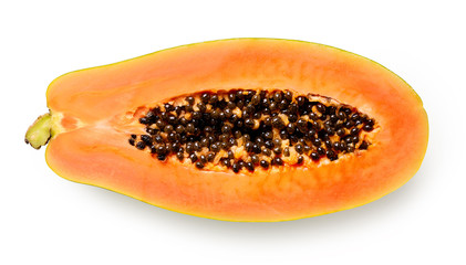 Half of ripe papaya fruit