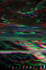 Abstract glitch art colorful lines background.