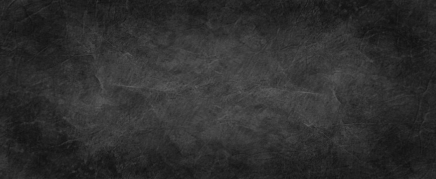 black texture background, old black crumpled paper in textured vintage design, elegant solid dark charcoal gray color with white creases