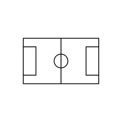 Volleyball court outline icon isolated. Symbol, logo illustration for mobile concept, web design and games.