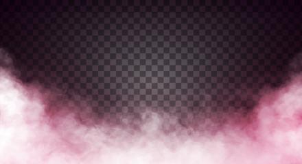 Garden Poster Smoke Reddish fog or smoke on dark copy space background. Vector illustration