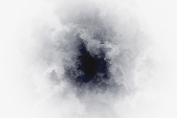 Eye of the tornado, inside view - backdrop with twister whirlwind - sky during the onset of a hurricane