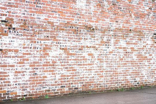 Whitewashed brick textured wall exterior
