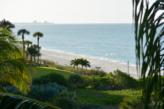 luxury resort beach on Longboat Key, Florida along the Gulf of Mexico