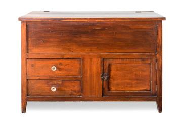 vintage cabinet isolate on white background