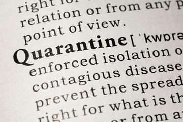 Wall Mural - definition of quarantine