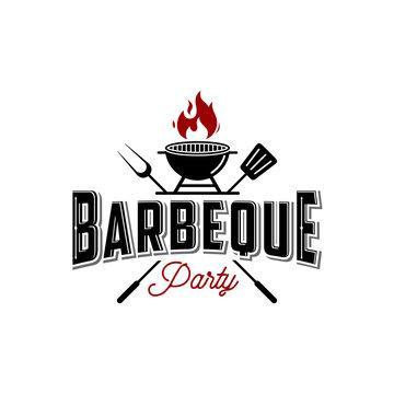 Barbecue grill logo on white background,designs vektor