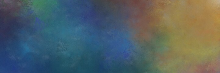 abstract painting background graphic with dark slate gray, pastel brown and teal blue colors and space for text or image. can be used as card, poster or background texture
