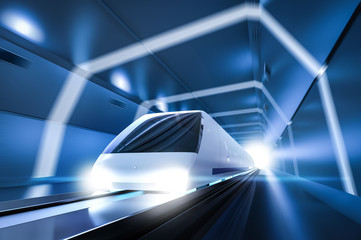 High speed train with motion