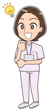 ナース 看護師 白衣 イラスト マンガ アニメ 先輩