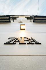 MADRID, SPAIN, 26TH DECEMBER, 2019: Zara sign in Madrid.