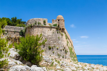 Views of the fortress Fortezza in Rethymnon, Crete, Greece