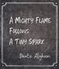mighty flame Dante quote